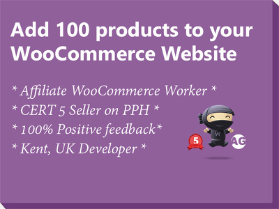 Add 100 products to your WooCommerce Website * Affiliate WooCommerce Worker *