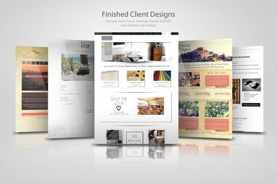 design you a beautiful bespoke website page (photoshop)