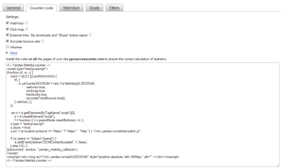 Offering Yandex Metrica Analytics Services