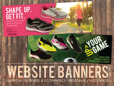 Design you a creative and professional banner for your Sports wear brand or websiste