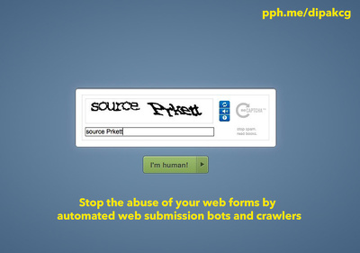 Add a captcha field to your php form to make it more secure and spam-free
