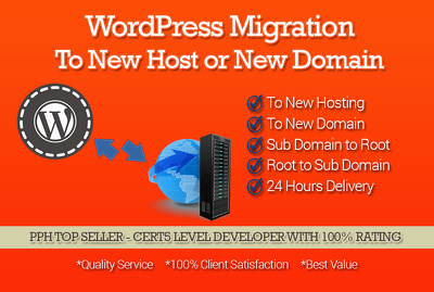 Transfer your WordPress website from one host to another OR one domain to another