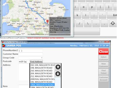 Make google direction function for your SambaPOS POS program
