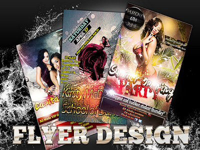 Design an awesome/professional FLYER, logo, brochure, business card with revision