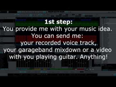 Create a remix, a backing track or turn your music sketch into radio-ready track
