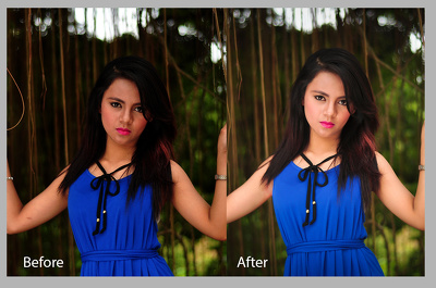 Retouch and edit  5 photos