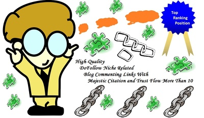 Create 5 Niche Links with Majestic Citation And Trust Flow  More Than 10