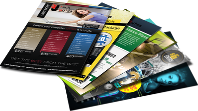 Create attractive flyer for internet use