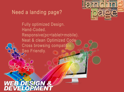 Design any landing page with fully responsive using bootstrap3.