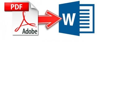 Convert from PDF/image  to MS Word (Less than 50 pages)