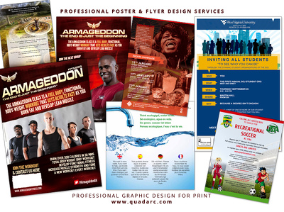 Design professional artwork for your Poster or Flyer