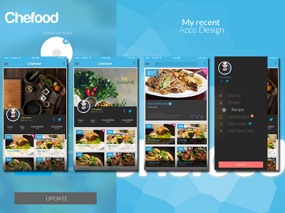 Design 12 page IOS or Android Apps Page UI Element