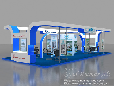 Design 3D Exhibition Stall / Booth with unlimited Views & Revisions