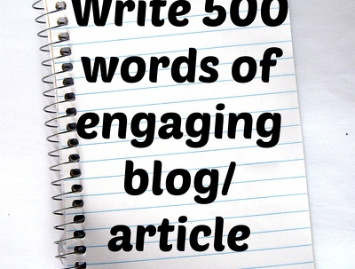 write 500 words of engaging article or blog content