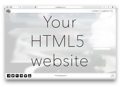 Build a fully customised HTML5 website to your specification