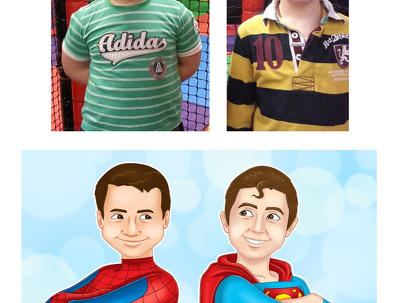 Draw you as superhero cartoon or create cartoon character for any purpose