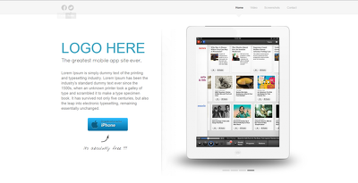 Design & develop One Page website/Landing page for your App , Game or Product