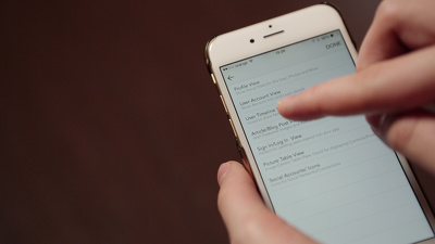 Video shoot your app in iPhone 6 gold