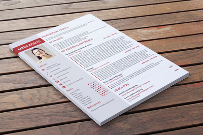 Design resume, cv for you