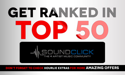 Rank you Top 50 on Soundclick ranks charts