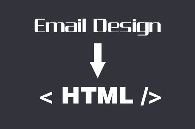 Convert your design to html (shows well in every email client)