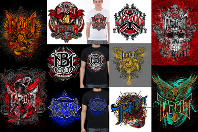 Create an awesome illustration for t-shirt design and merchandise