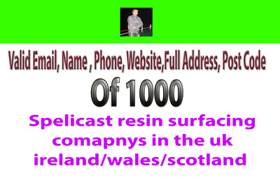 Provide surfacing comapnys data from uk  ireland/wales/scotland