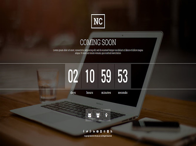 Design a Responsive Coming Soon page or Under Construction page