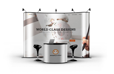 Make your elegant reception mock-up with your Logo and Graphics