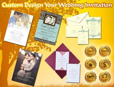 Custome Design Your Wedding Invitation