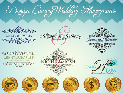 Design luxury wedding monograms