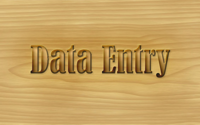 Do one hour data entry work