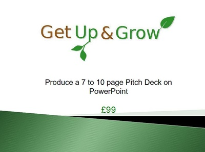 Produce a 12 to 15 page Pitch Deck on Powerpoint