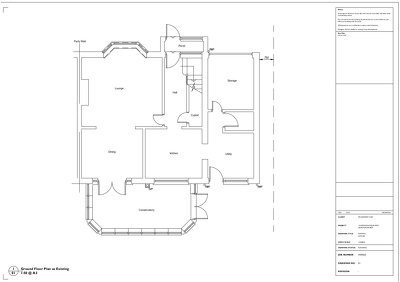 Produce planning drawings for your project