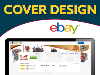 Create Ebay account cover and profile images