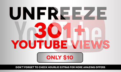 Unfreeze YouTube Frozen Counter Freeze 301 and add 1500 high retention views