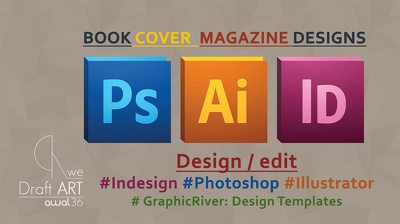 Do book or magazine or print ready Designs in Adobe Indesign or graphicriver files