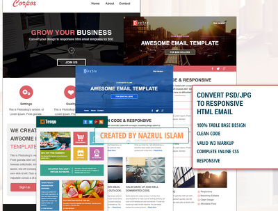 Convert PSD/JPG/PDF/AI to Responsive HTML Email Newsletter template.