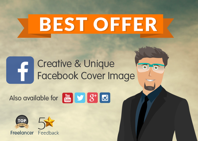 Create a unique and creative Facebook cover design