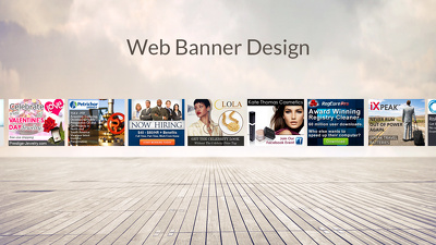 Design a web banner ad set in 7 sizes