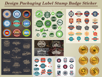 Design Packaging Label Stamp Badge Sticker