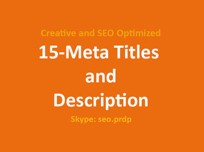 12 SEO Friendly Meta Titles and Description