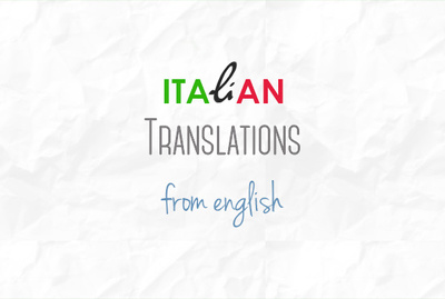 Translate english into italian