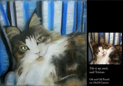 Paint your pet, oil on canvas