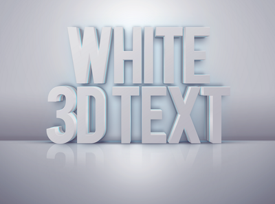 Transform your text to 3D - 4 options