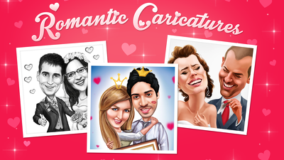 Draw you a Romantic Couple Portrait/Caricature