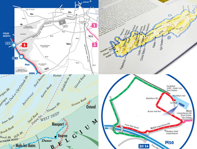 Create a professional location or area map