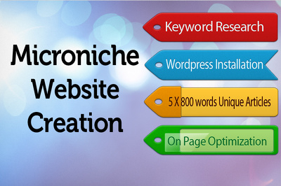 Create a micro niche adsense wordpress site