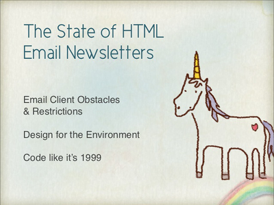 Design, code and test a html email/newsletter for you