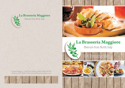 Design a menu for your restaurant, cafe, bar or takeaway